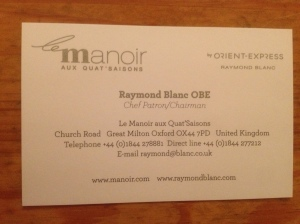 Le Manoir business card