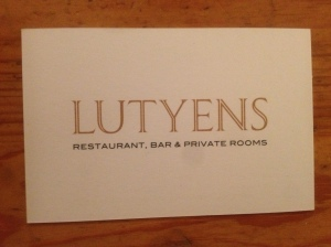 Lutyens business card