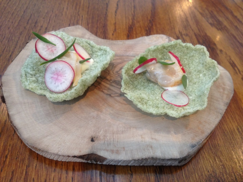 Cockle, seaweed and horseradish