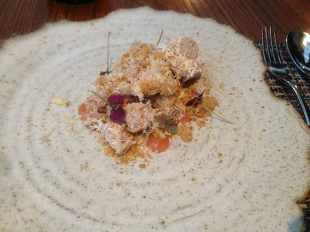 Honeycomb with quince, chestnut and perilla