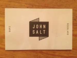John Salt business card