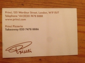 Princi business card