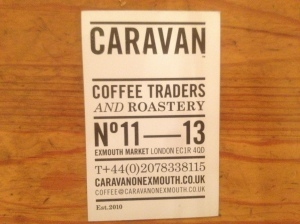 Caravan business card