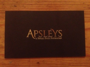 Apsleys business card