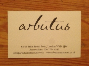 Arbutus business card