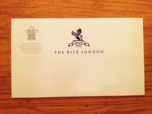 Ritz business card