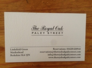 Royal Oak business card