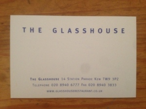 The Glasshouse business card