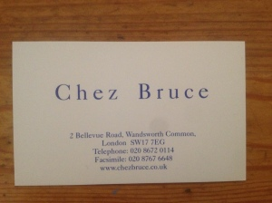 Chez Bruce business card