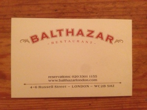 Balthazar business card