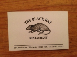 Black Rat business card