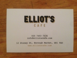 Elliot's business card