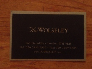 The Wolseley business card