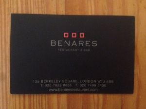 Benares business card