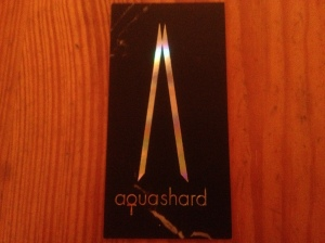 Aqua Shard business card