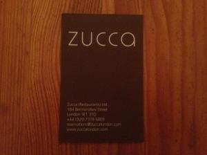 Zucca business card