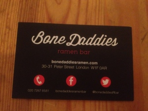 Bone Daddies business card
