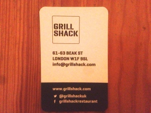 Grill Shack business card