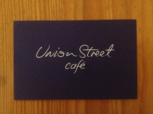 Union Street Cafe business card