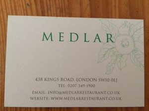 Medlar business card