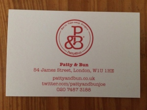 Patty&Bun business card