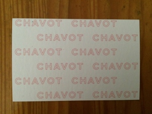 Brasserie Chavot business card