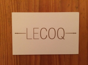 Le Coq business card