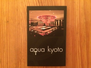 Aqua Kyoto business card