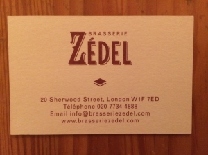 Zedel business card