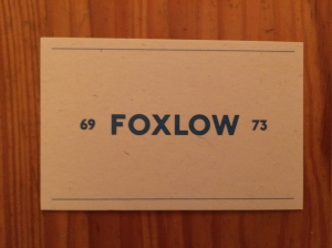 Foxlow business card
