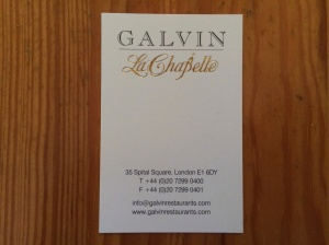 Galvin La Chapelle business card
