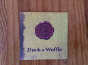 Duck and Waffle business card