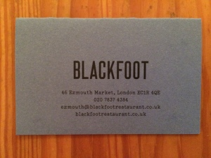 Blackfoot business card