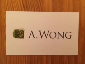 A. Wong business card