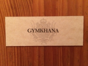 Gymkhana business card