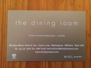 The Dining Room business card