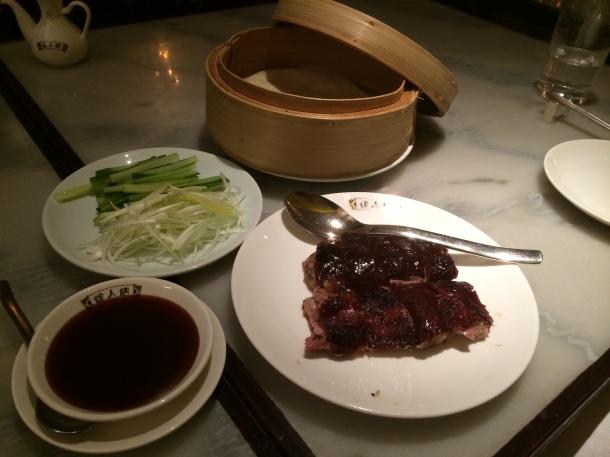 Duck and pancakes China Tang