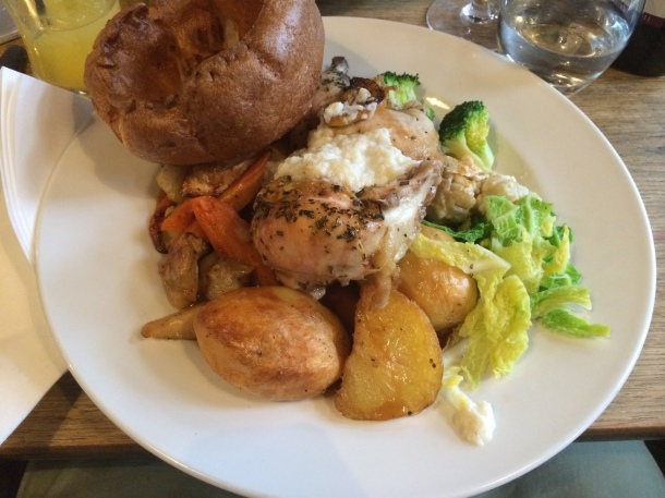 Roast chicken at The Ship
