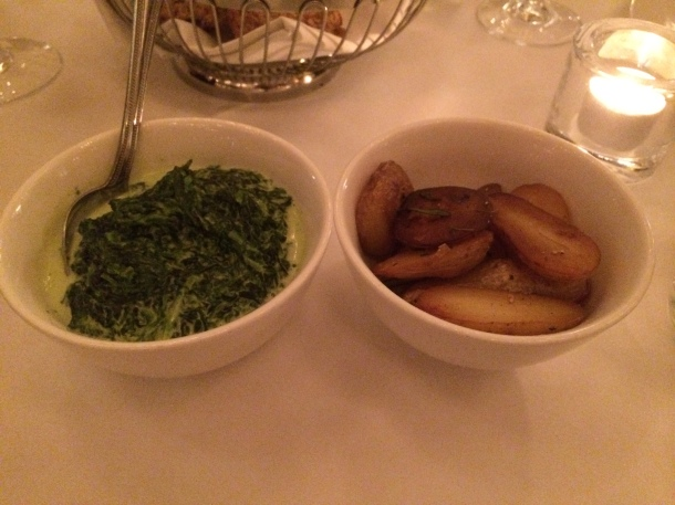 Ratte potatoes and creamed spinach The Criterion