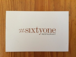 Sixty One business card