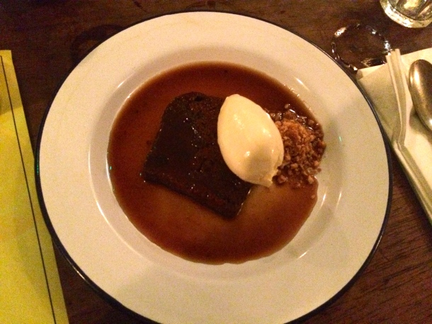 Boubon and Coke sticky toffee pudding Pitt Cue Co