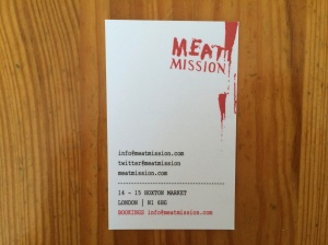 Meat Mission business card