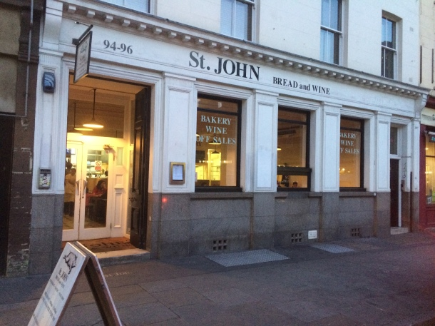 St John Bread and Wine outside