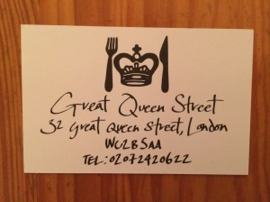 Great Queen Street business card