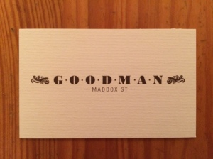 Goodman business card