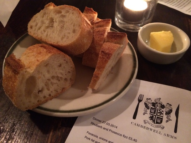 House bread at Camberwell Arms