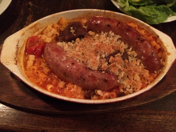 Sausage at Camberwell Arms