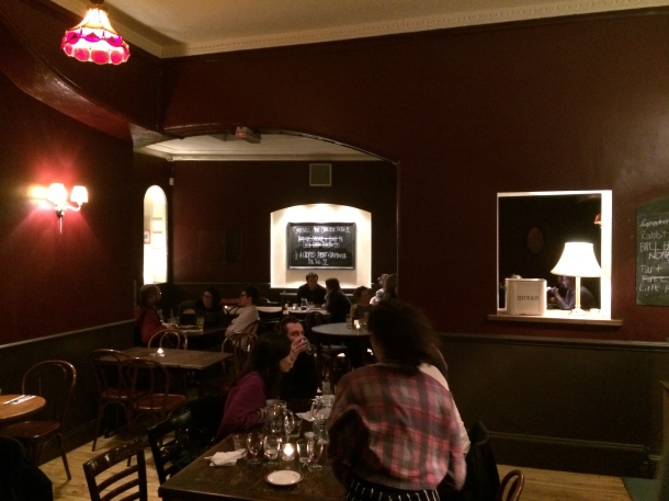 Camberwell Arms dining room
