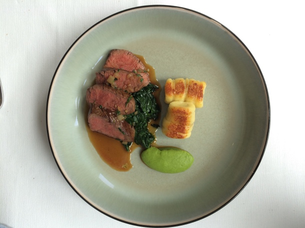 Cumbrian beef fillet with braised beef cheek stuffed gnocchi at London House