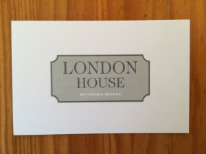 London House business card